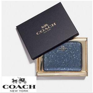 Designer Coach Star Zipper Wallet NIB I1